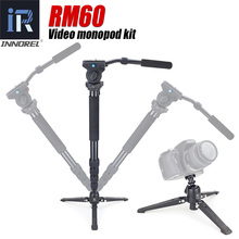 INNOREL RM60 Professional monopod kit Aluminum Alloy Video Monopod with Fluid Pan Head and Unipod Holder Better than JY0506(China)