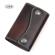 J.M.D New Arrivals Hot Selling Genuine Leather Men's Fashion Key Bag Card Holder Classic Design Car Key Bag Supplier 8130(China)