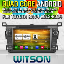 WITSON S160 CAR DVD for TOYOTA RAV4 2013-2014 NAVIGATION Quad Core Android 4.4+CAPACITIVE 1024X600 HD+16G Flash+PIP+WIFI/DVR/3G(China)