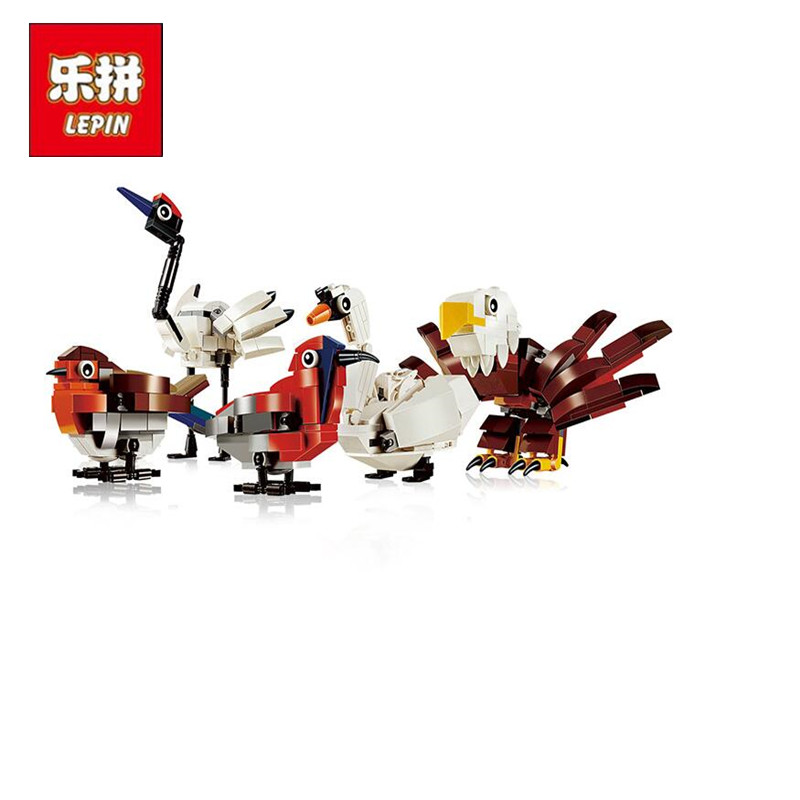 lepin 36007 Creator series the hub birds Building Blocks set compatible 4002014 classic education Architecture toy for children<br>