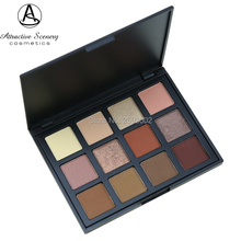 Natural 12 Color Eyeshadow Palette Earth Warm Shimmer Matte Beauty Smoky Make-up Kit Eye-shadow Makeup Silky Powder  12NB