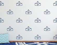 Paper Boat Wall Decals Cute Nautical Living Room Decor Kids Room Wall Stickers Bedroom Decoration Nursery Wallpaper A850