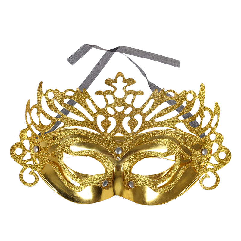 GLITTER MASQUERADE VENETIAN LADY LACE HALF FACE BALL MASK CARNIVAL FANCY DRESS