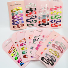 30 Pcs/ Set Mini Small 3cm Printing Candy Color Cartoon girls' Hair grips BB Clips Kids Hairpin Accessories