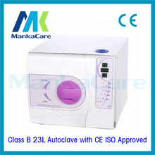 23L Autoclave in Purple Color Dental materials disinfection cabinet dental instruments vacuum sterilizer