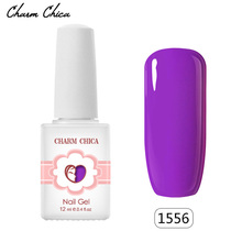 CHARM CHICA Lilac Gel Nail Polish Newest Soak Off Lavender Nail Gel polish UV Lamp Manicure For Nails Gel UV Lacquer DIY Art(China)
