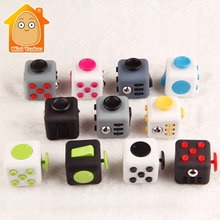 Minitudou 3CM Anti Stress Cube Antistress Fidget Toys 11 Colors Anxiety Plastic Reliever Desk Spin Toy For Children Adults