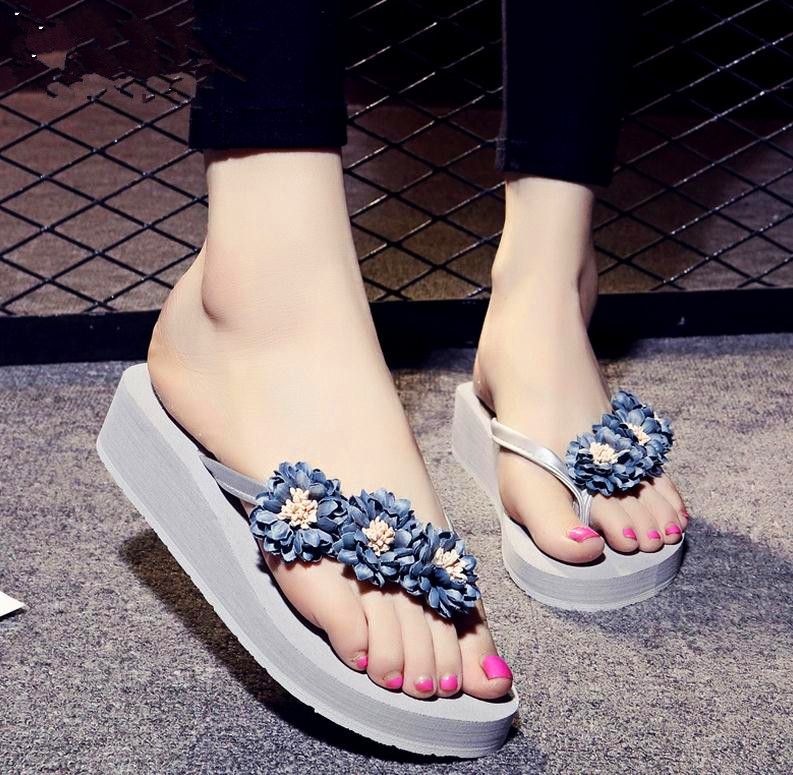 Women Sandals Summer Cool Flip-flops Beach Thick Bottom Female Rubber Soles With Slippers Soft Leather Injection Top Fashion<br><br>Aliexpress