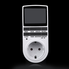 1PC Switch Digital LCD Programmable Timer Switch Socket EU US Plug in 7 Day 12/24h AC with Clock Summer Time