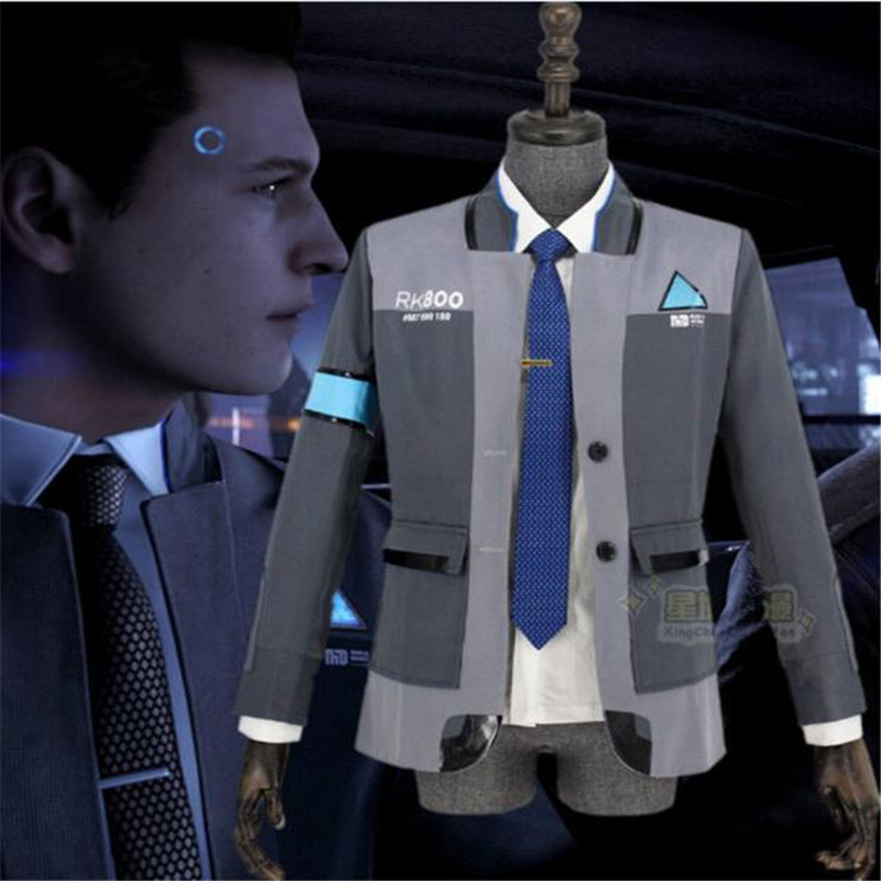 Game Detroit: Become Human Connor RK800 Agent Suit Uniform Halloween Cosplay Costume New!