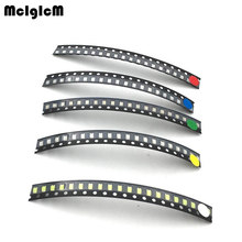 B0074 100pcs/lot 1206 SMD LED light Package LED Package Red White Green Blue Yellow 1206 led in stock Free Shipping