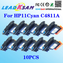 10PCS for HP11 Cyan C4811A Printhead for HP OfficeJet 9110 9130 1000 1100 1200 2200 2280 2300 For HP 11(China)