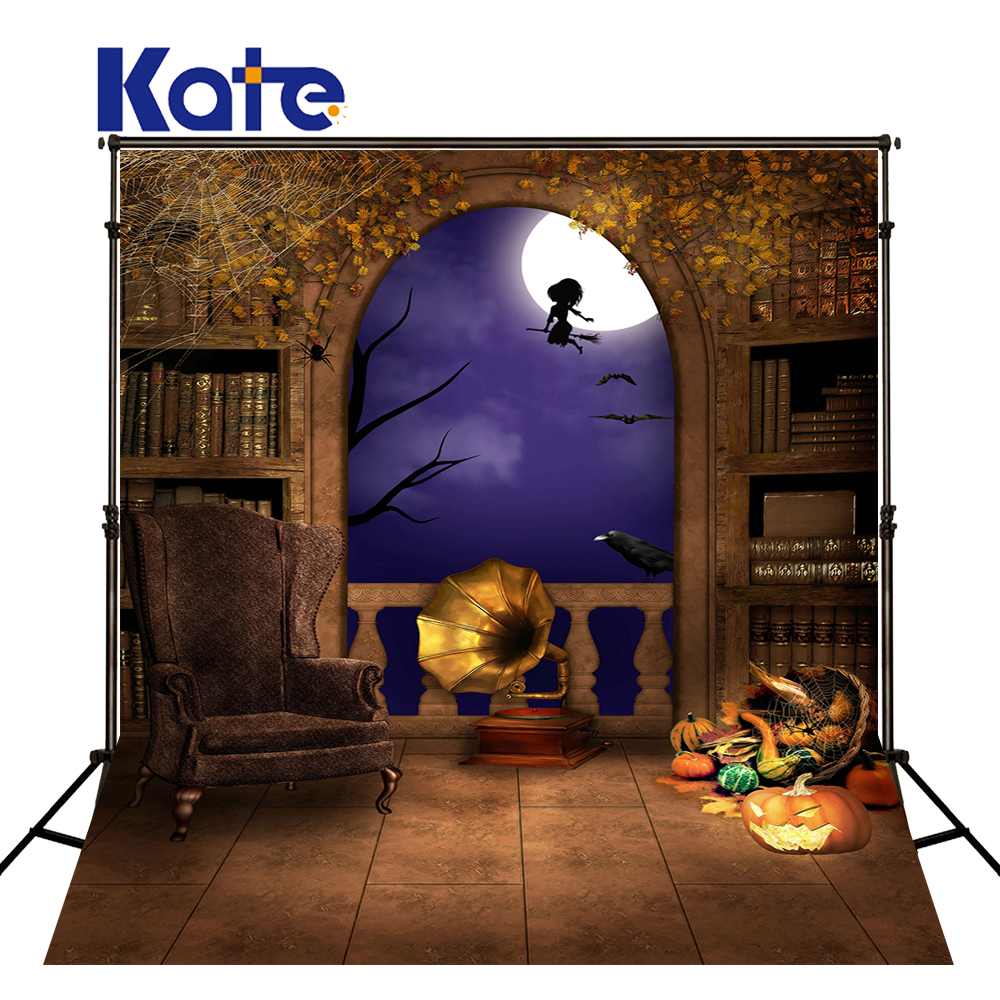 Kate Backdrops For Photography Gramophone Pumpkin Bookshelf  Halloween Backdrop Photographic Background Wsj-021<br>