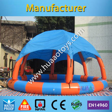 8*8m Colorful Rainbow Inflatable Swimming Pool With Tent(Free air pump+repair kit)(China)