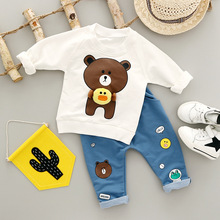 Brown Bear Kids Lovely Sets Sweatshirt+Pants Baby Girls Boys Outwear Suits Winter Cute Baby Korean Design Clothes For Toddler