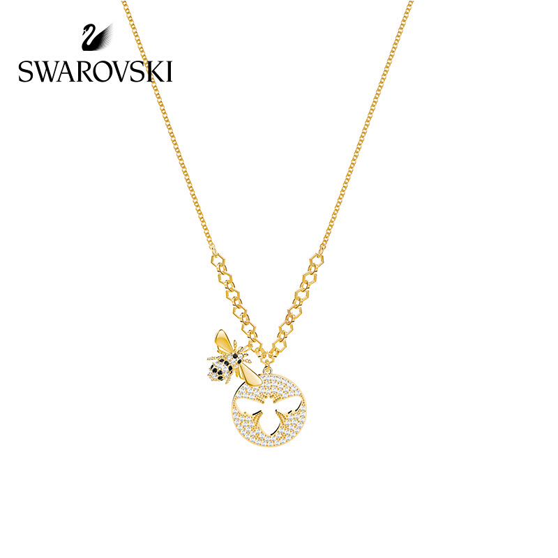 Genuine Swarovski Gold plated Bee Lisabel Necklace Female Clavicle Chain Girlfriend Gift 5365641 women choker fine jewelry