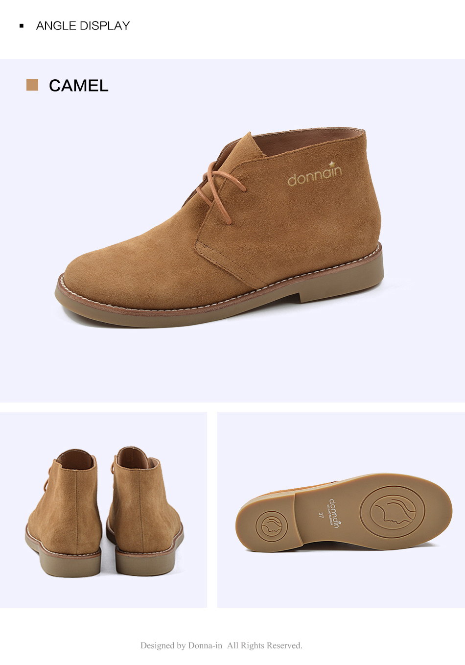 Donna-in Fashion Martin Boots Women Adult Autumn Spring 2019 Ankle Boots Suede Leather Lace-up Casual Low Heel Shoes Women (19)