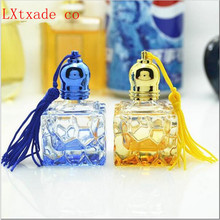 Free Shipping 7ml Glass Perfume Roll on Quadrate Bottles Mew Style Top Grade Parfume Woman perfume Empty Packing Glass Bottles(China)