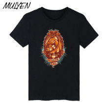 MULYEN Dinosaur And Children Print Embroided T Shirt Men Summer Cotton t-shirt Brand Clothing I Choose Fire Hip Hop Tee Tshirt(China)