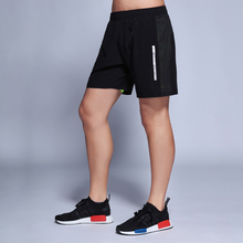 Running Shorts Men 2in 1 Sport Shorts sport Shorts men exercise shorts with back zip pocket and reflective stripe