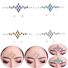 1 Sheet Diamond Makeup Eyeliner Party Eyeshadow Face Stickers 16*11cm Crystal Eyes Tattoo Stickers