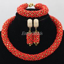 Gorgeous Native American African Wedding Beads Jewelry Set Indian Bridal Costume Jewelry Set Bride Jewelry Free Shipping AIJ483