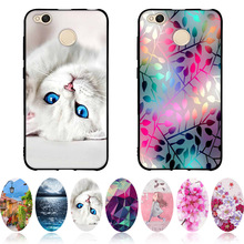 Case For Xiaomi Redmi 4X Cover Soft Black TPU Silicone Fundas For Redmi 4 X Case 3D Painting Coque For Hongmi 4X Phone Cases 5.0