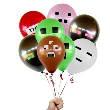 50pcs Minecraft TNT Creeper Big Cow Balloons Latex Minecraft toys Festive Party Decorations Supplies Material Kinds Toy(China)