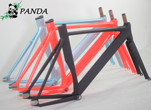2015 Top Quality 54CM Smooth Welding Track Bike Fixed Gear Bicycle Frame Frame and fork together free shipping(China)