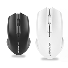 Cute Black White Wireless Mouse USB Optical Use 1 AA Battery(Not include) Power Saving Symmetrical Lift-right Hand For Office