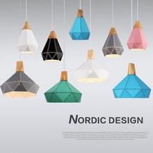 Modern Nordic Colorful Macaron LED Iron 3 Light Kit Pendant Light Lamp for Dining Bedrooom Hanging Light Fixtures Home Decor Art(China)