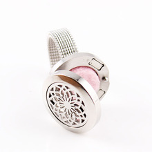 316L Stainless Steel  Lotus Sunflowers ring 20mm Essential Oils Perfume Diffuser Locket Ring Wedding Anniversary Engagement Ring