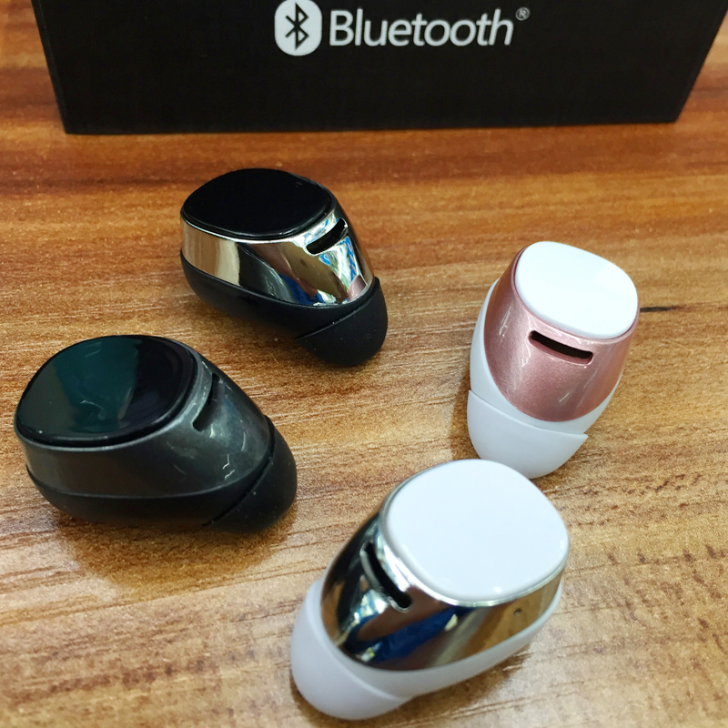 Super Mini stereo invisible bluetooth headset wireless V4.1 handfree Smallest bluetooth earphone headphone for Samsung all phone<br><br>Aliexpress