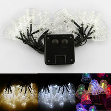 4.8M 20 LED Solar String Fairy Lights Premium Quality Waterproof Solar Small Bell Shape Power Solar Lights For Garden Decoration