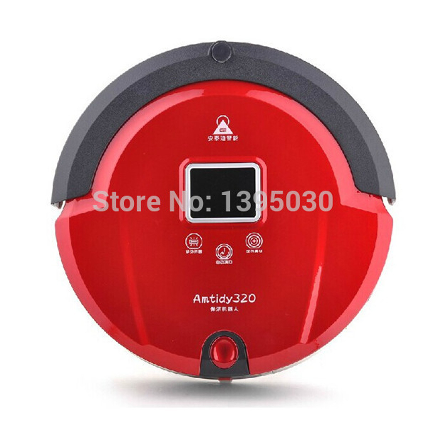 1pcs New Automatic Intelligent Robot Vacuum Cleaner Self Charging Remote Control LCD Touch Screen(China (Mainland))