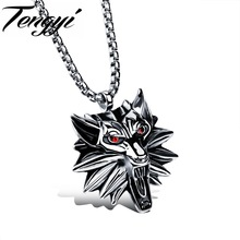 TENGYI Punk Men's Pendant Necklace The Witcher Medaillon Necklaces Man 316L Stainless Steel Men Chain Gold/Silver Color TY1013(China)