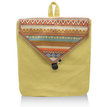 Ethnic Women Backpack School Girl Handmade Ladies Canvas Cover Casual String National Hand-painted Customized Bag