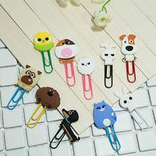 The Secet Life of Pets Paper Clip Bookmark Promotional Gift Stationery School Office Supply Escolar Papelaria