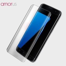 AMORUS for Samsung Galaxy S8 Complete Cover Silk Printing Tempered Glass Screen Film for Galaxy S 8 Tempered Glass- Transparent