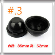 2pieces Car HID Led xenon headlamp rubber Dust Covers size 85x52mm universal for all car makers and models DIY installation(China)