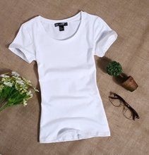 The tide Bay female short sleeved summer shirt T-shirt slim solid girl students simple T-shirts wholesale(China)