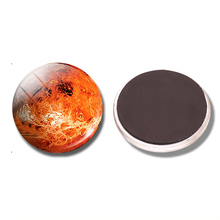 Venus Planet 30 MM Fridge Magnet Solar System Universe Space Glass Cabochon Magnetic Refrigerator Sticker Note Holder Home Decor(China)