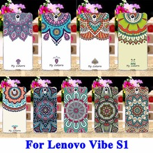 AKABEILA Flower Painted Mobile Phone Cases For Lenovo Vibe S1 S1C50 S1A40 5.0 Covers Skin Shell Hood Rubber Shield Bags(China)