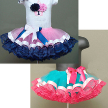 Newest baby girl skirt kids rainbow tutu skirts hot selling skirt tutu  for costume party