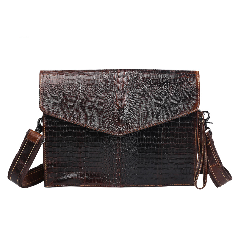 Fashion Brand Genuine Leather Crossbody Bags For Men High Quality Handmade Crocodile Leather Bags Small Shoulder Bag YS1319<br><br>Aliexpress