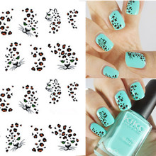 1 sheet Hot Leopard Nail Art Water Transfer Stickers Nails Wraps DIY Beauty Nail Art Decals Decorations Nail Tools BEBLE581