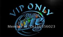 LA405- Miller Lite VIP Only Beer LED Neon Light Sign