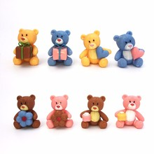 80pcs/10Set 4cm Care Bears PVC Action Figure Toy Teddy Bear Model Toy Dolls Kids Toys Collection Gift(China)