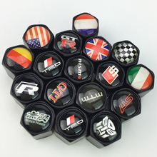 4pcs Black Auto Motorcycle Accessories Metal Car Wheel Tires Valve Caps For BMW Audi VW Toyota TRD Honda Subaru GTR car styling