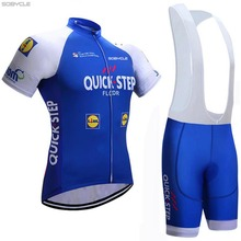 New 2017 Quick step cycling jersey bike shortsRopa Ciclismo quick dry team pro cycling wear mens bicycle Maillot Culotte